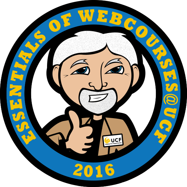 Essentials of Webcourses@UCF Completion Badge