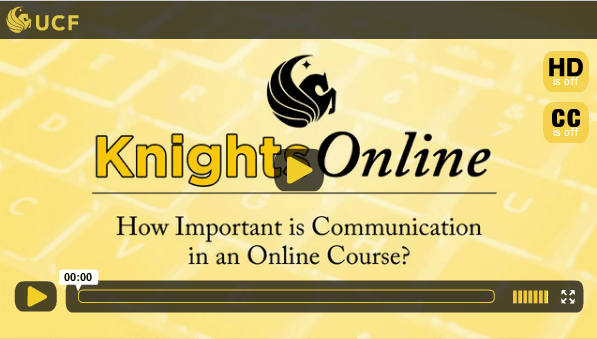 Communication in an Online Course