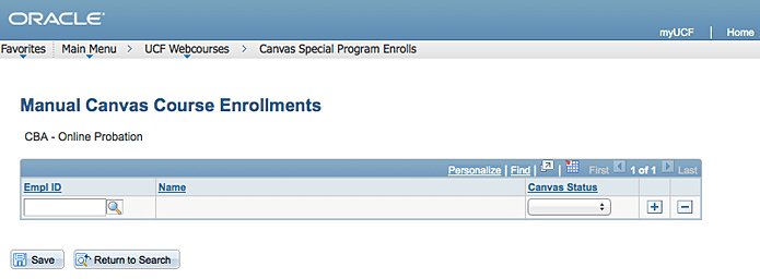 Manual enrollment