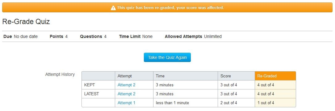 Re-Grade a Quiz | UCF
