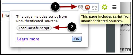 load unsafe script in Chrome