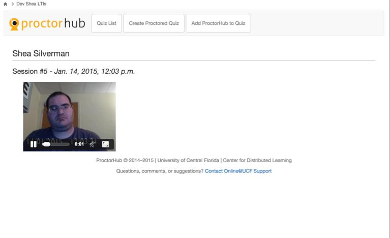 ProctorHub Student Video
