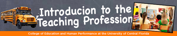 Banner Example for Introduction to the Teaching Profession