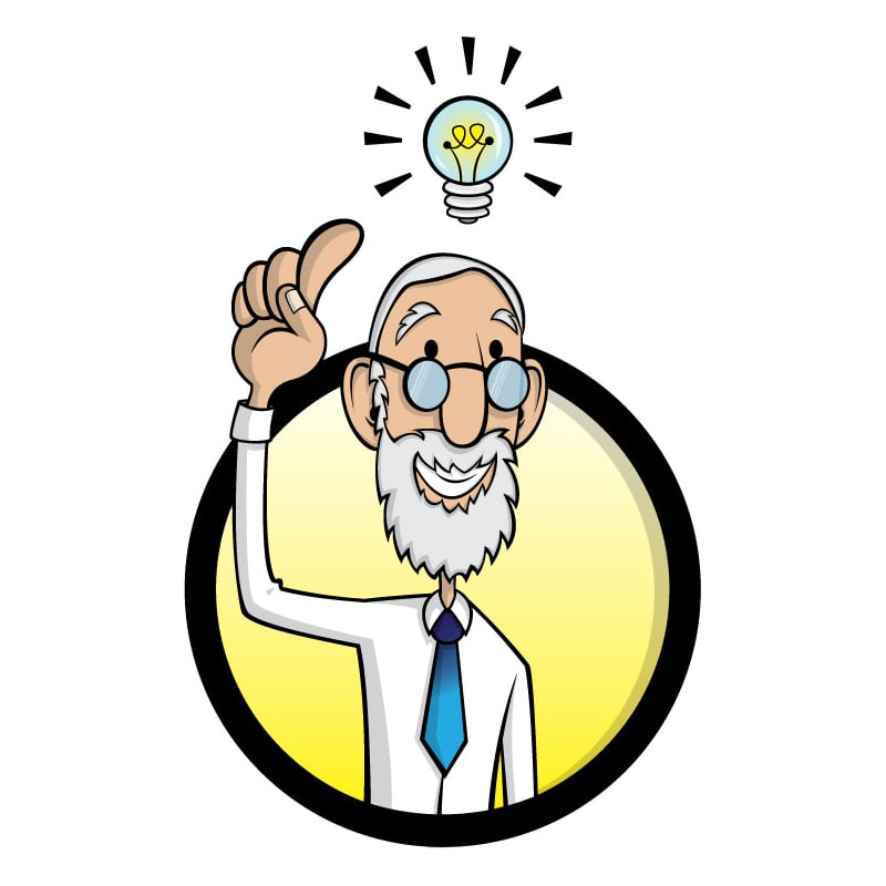 Avatar of a man with a bright idea