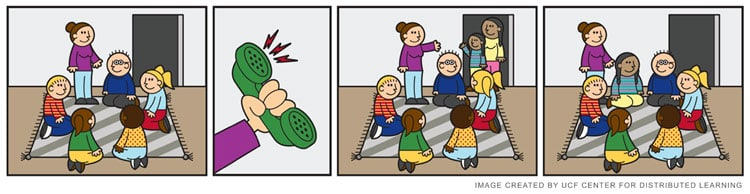 Comic of playgroup
