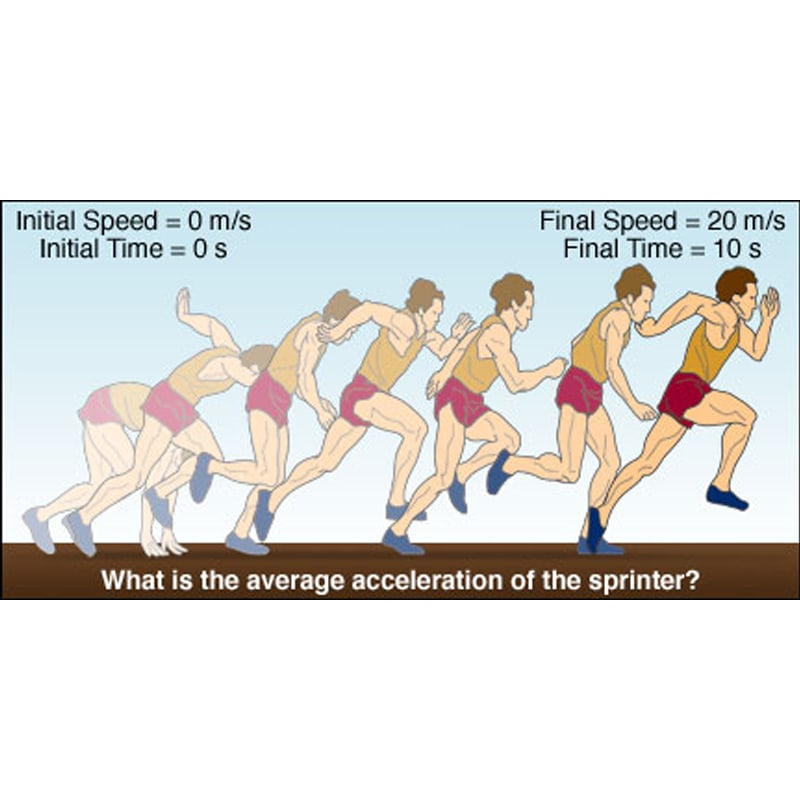 Illustration of a sprinter