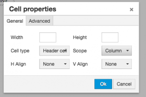 Cell Properties Window, showing Cell Type and Scope fields.