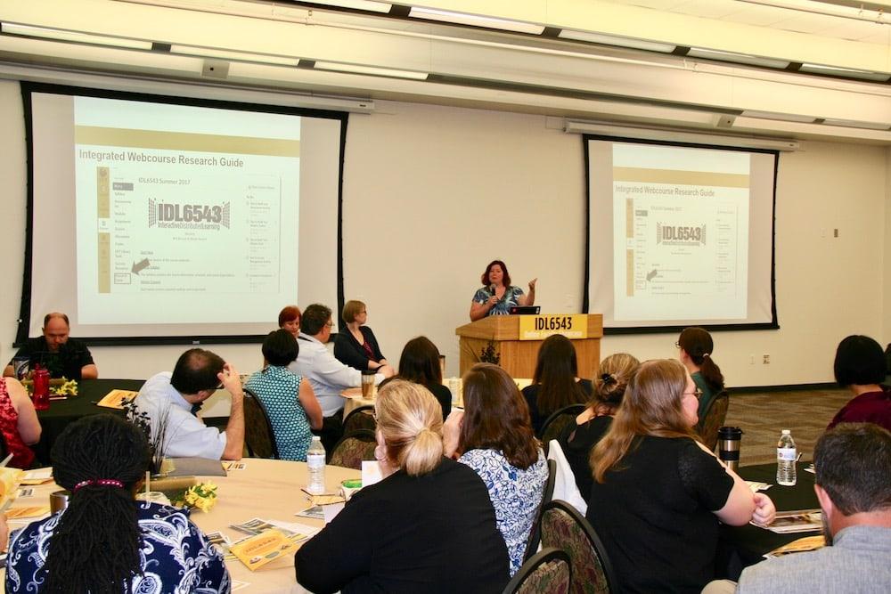 Christina Wray presenting