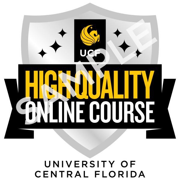What is the High Quality Online Course Badge UCF CDL