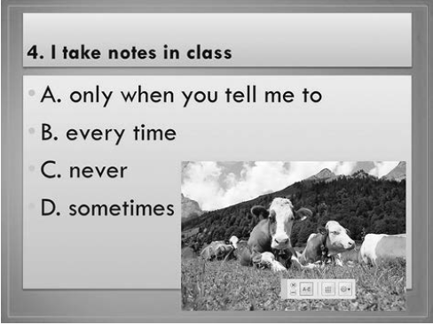 I take notes in class question