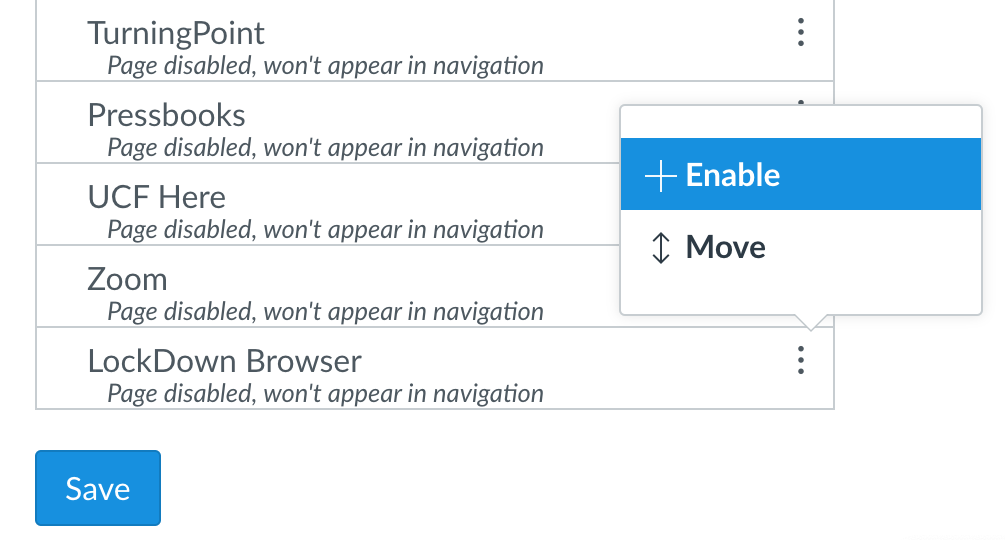 Enable option for LockDown Browser