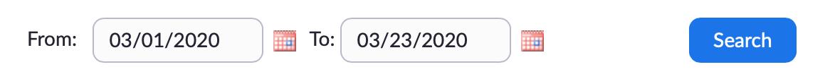 Set Date Range in Zoom