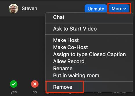 Remove Participant