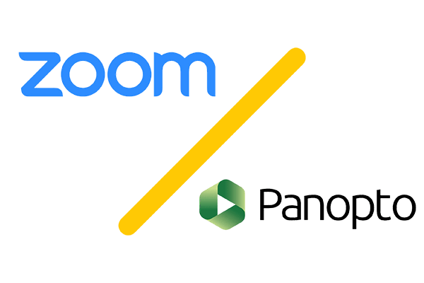Zoom and Panopto Logos
