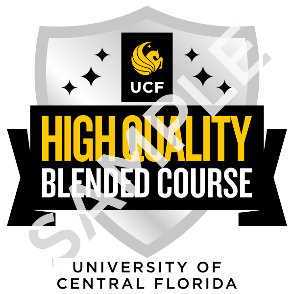 High quality blended course badge