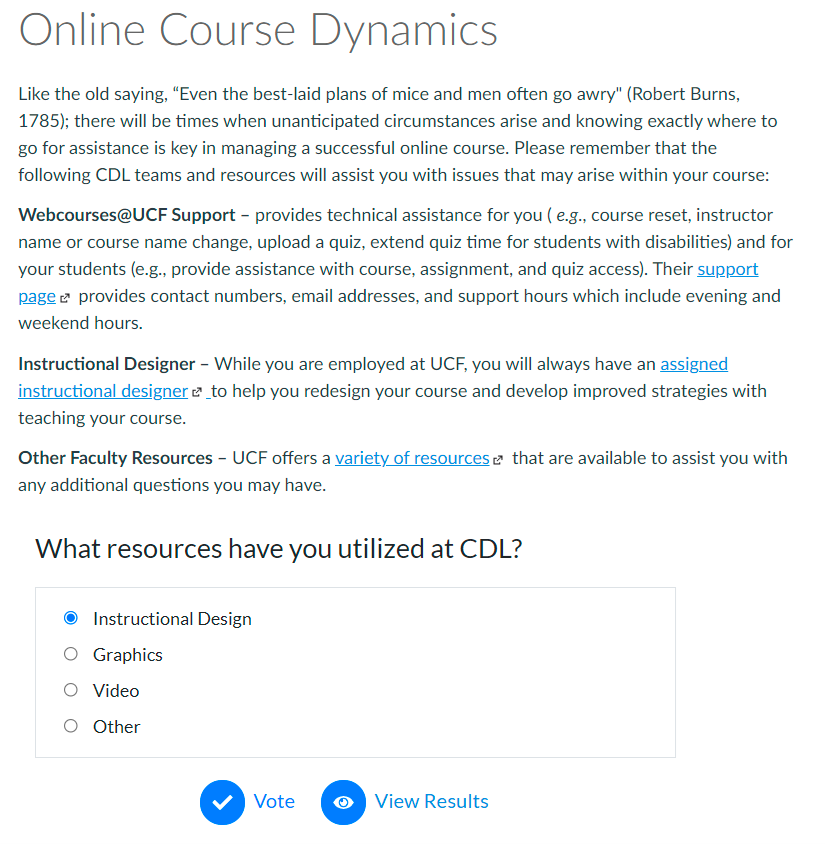 Online Course Dynamics
